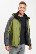 Оптом Куртка демисезонная 3 в 1 зеленого цвета 12005Z в Екатеринбурге, фото 13