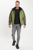 Оптом Куртка демисезонная 3 в 1 зеленого цвета 12005Z в Екатеринбурге, фото 4