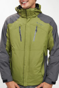 Оптом Куртка демисезонная 3 в 1 зеленого цвета 12005Z в Екатеринбурге, фото 9