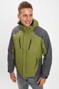 Оптом Куртка демисезонная 3 в 1 зеленого цвета 12005Z в Екатеринбурге, фото 10