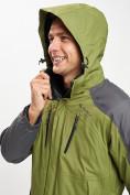 Оптом Куртка демисезонная 3 в 1 зеленого цвета 12005Z в Екатеринбурге, фото 11