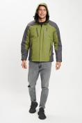 Оптом Куртка демисезонная 3 в 1 зеленого цвета 12005Z в Екатеринбурге, фото 3