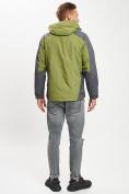 Оптом Куртка демисезонная 3 в 1 зеленого цвета 12005Z в Екатеринбурге, фото 5