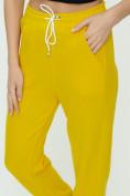 Оптом Штаны джоггеры женские желтого цвета 1302J в Екатеринбурге, фото 12