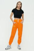 Оптом Штаны джоггеры женские оранжевого цвета 1302O в Казани, фото 2