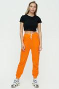 Оптом Штаны джоггеры женские оранжевого цвета 1302O в Казани, фото 3