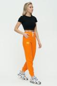 Оптом Штаны джоггеры женские оранжевого цвета 1302O в Казани, фото 4