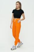 Оптом Штаны джоггеры женские оранжевого цвета 1302O в Казани, фото 5
