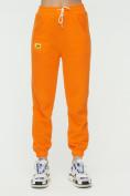 Оптом Штаны джоггеры женские оранжевого цвета 1302O в Казани, фото 7