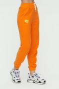 Оптом Штаны джоггеры женские оранжевого цвета 1302O в Казани, фото 8