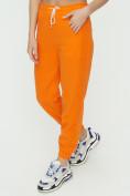 Оптом Штаны джоггеры женские оранжевого цвета 1302O в Казани, фото 12