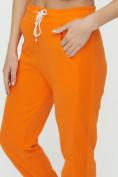Оптом Штаны джоггеры женские оранжевого цвета 1302O в Казани, фото 15