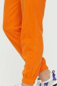 Оптом Штаны джоггеры женские оранжевого цвета 1302O в Казани, фото 17