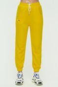 Оптом Штаны джоггеры женские желтого цвета 1302J в Екатеринбурге, фото 6