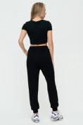 Оптом Спортивные брюки женские черного цвета 1306Ch в Казани, фото 6