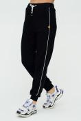 Оптом Спортивные брюки женские черного цвета 1306Ch в Казани, фото 8