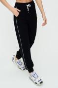 Оптом Спортивные брюки женские черного цвета 1306Ch в Казани, фото 12
