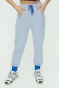 Оптом Спортивные брюки женские голубого цвета 1307Gl в Екатеринбурге, фото 13