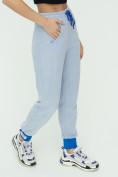 Оптом Спортивные брюки женские голубого цвета 1307Gl в Екатеринбурге, фото 14