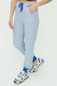 Оптом Спортивные брюки женские голубого цвета 1307Gl в Екатеринбурге, фото 15