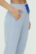 Оптом Спортивные брюки женские голубого цвета 1307Gl в Екатеринбурге, фото 17