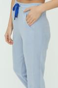 Оптом Спортивные брюки женские голубого цвета 1307Gl в Екатеринбурге, фото 18