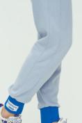 Оптом Спортивные брюки женские голубого цвета 1307Gl в Екатеринбурге, фото 20