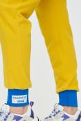 Оптом Спортивные брюки женские желтого цвета 1307J в Екатеринбурге, фото 15
