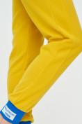 Оптом Спортивные брюки женские желтого цвета 1307J в Екатеринбурге, фото 16