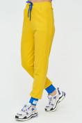 Оптом Спортивные брюки женские желтого цвета 1307J в Екатеринбурге, фото 10