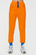 Оптом Спортивные брюки женские оранжевого цвета 1307O в Екатеринбурге, фото 6