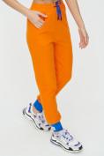 Оптом Спортивные брюки женские оранжевого цвета 1307O в Екатеринбурге, фото 14