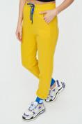 Оптом Спортивные брюки женские желтого цвета 1307J в Екатеринбурге, фото 13