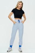 Оптом Спортивные брюки женские голубого цвета 1307Gl в Екатеринбурге