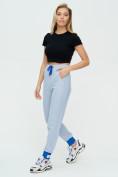 Оптом Спортивные брюки женские голубого цвета 1307Gl в Екатеринбурге, фото 6