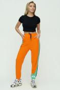 Оптом Штаны джоггеры женские оранжевого цвета 1309O в Екатеринбурге, фото 2