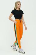 Оптом Штаны джоггеры женские оранжевого цвета 1309O в Екатеринбурге, фото 3