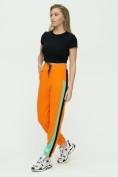 Оптом Штаны джоггеры женские оранжевого цвета 1309O в Екатеринбурге, фото 5