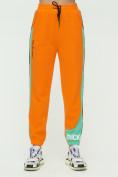 Оптом Штаны джоггеры женские оранжевого цвета 1309O в Екатеринбурге, фото 7