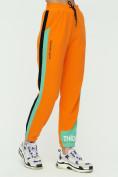 Оптом Штаны джоггеры женские оранжевого цвета 1309O в Екатеринбурге, фото 8
