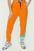 Оптом Штаны джоггеры женские оранжевого цвета 1309O в Екатеринбурге, фото 11