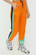 Оптом Штаны джоггеры женские оранжевого цвета 1309O в Екатеринбурге, фото 12