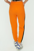 Оптом Штаны джоггеры женские оранжевого цвета 1309O в Екатеринбурге, фото 13