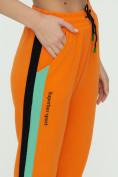 Оптом Штаны джоггеры женские оранжевого цвета 1309O в Екатеринбурге, фото 15