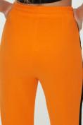 Оптом Штаны джоггеры женские оранжевого цвета 1309O в Екатеринбурге, фото 16