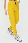 Оптом Штаны джоггеры женские желтого цвета 1312J в Казани, фото 13