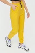 Оптом Штаны джоггеры женские желтого цвета 1312J в Казани, фото 14