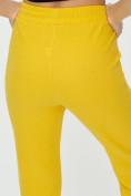 Оптом Штаны джоггеры женские желтого цвета 1312J в Казани, фото 19