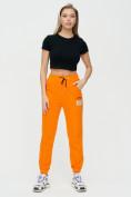 Оптом Штаны джоггеры женские оранжевого цвета 1312O в Екатеринбурге, фото 3