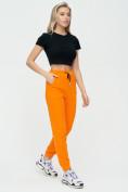 Оптом Штаны джоггеры женские оранжевого цвета 1312O в Екатеринбурге, фото 4